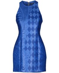 Balmain Short Dress blue - Lyst