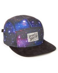 Icon Brand - 5 Panel Cap With Cosmic Print - Lyst