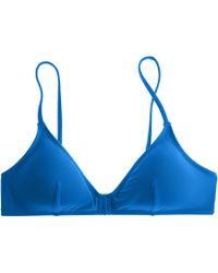 J.Crew Gathered French Bikini Top blue - Lyst
