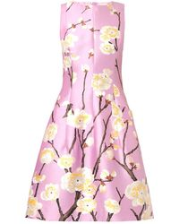 Oscar de la Renta Cherry Blossomprint Silkblend Dress - Lyst