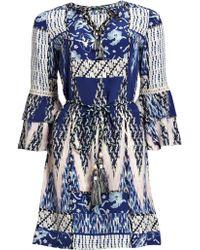 Matthew Williamson Zig Zag Patchwork Silk Dress - Lyst