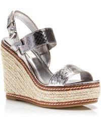 Lauren by Ralph Lauren Platform Wedge Espadrille Sandals - Serana Snake Print - Lyst