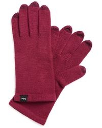 Echo - 'touch - All Over' Tech Gloves - Purple - Lyst