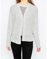 ASOS | Boxy Cardigan In Natural Look Yarn | Lyst