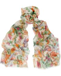 Matthew Williamson Rainbow Morris Printed Modal and Cashmereblend Scarf - Lyst