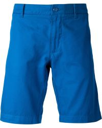 Lacoste Classic Chino Shorts blue - Lyst