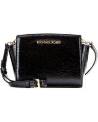 MICHAEL Michael Kors Selma Mini Messenger Patent Leather Shoulder Bag - Lyst