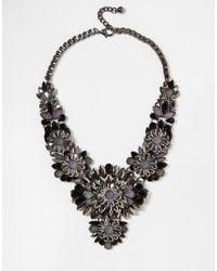 Little Mistress - Statement Flower Necklace - Lyst