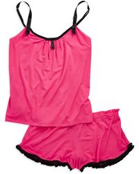 Betsey Johnson Two-piece Luscious Cami and Shorts Set - Lyst