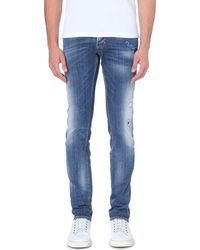 DSquared2 Semi Distressed Faded Jeans - Lyst