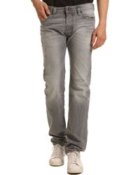 Diesel Safado Weathered Straight Cut Grey Jeans - Lyst