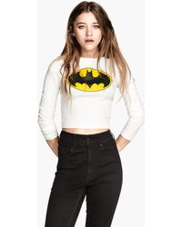 H&M Cropped Top - Lyst