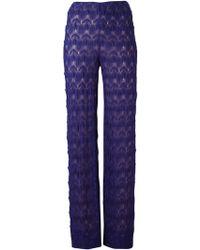 Missoni Zig Zag Crochet Trousers - Lyst
