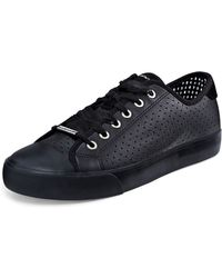 DKNY Barbara Perforated Leather Sneaker - Lyst