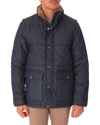 Levi's Feather-Quilted Leather Jacket With Removable Sherpa Hood - Lyst