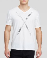 John Varvatos Usa Busted Drumsticks Graphic Tee - Lyst