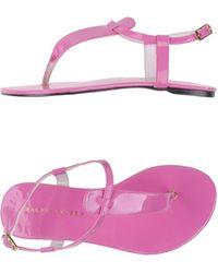 Ralph Lauren Pink Thong Sandal - Lyst