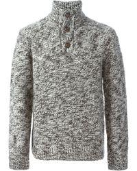 Woolrich Button Down Collar Sweater - Lyst