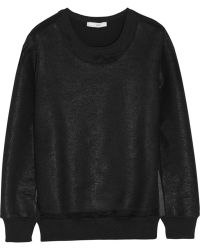 Iro Logan Coated Cottonblend Terry Sweatshirt - Lyst