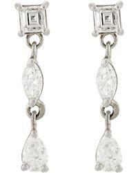 Malcolm Betts - Diamond Triple-drop Earrings - Lyst