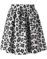 Moschino Cheap & Chic Cheetah Print Volume Skirt - Lyst