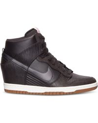 Nike Women'S Dunk Sky Hi Casual Sneakers From Finish Line - Lyst