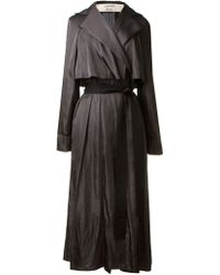 Lanvin Flowing Trench - Lyst