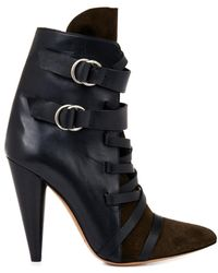Isabel Marant Royston Suede and Leather Boots - Lyst