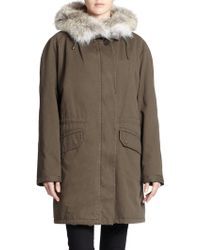 Army by Yves Salomon Rabbit Fur-Lined Parka - Lyst