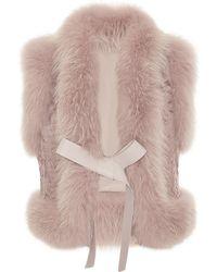 Elie Saab Fox and Astrakhan Fur Vest - Lyst