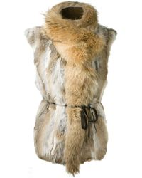 Isabel Marant Natural Rabbit Fur Astia Gilet - Lyst