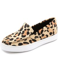 Jeffrey Campbell Skip Fur Slip On Sneakers Natural Giant Cheetah - Lyst