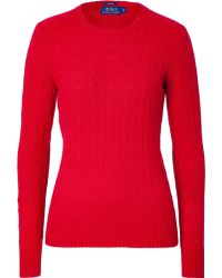 Polo Ralph Lauren Cashmere Cable Knit Pullover - Lyst