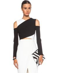 Yigal Azrouel Cross Front Viscose-blend Cropped Top - Lyst