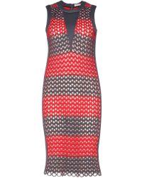 Balenciaga Woven Neoprene Dress - Lyst