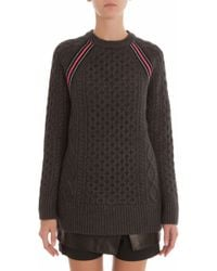 T By Alexander Wang Cable Knit Jumper - Lyst