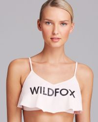 Wildfox Morning Sunrise Crop Bikini Top - Lyst