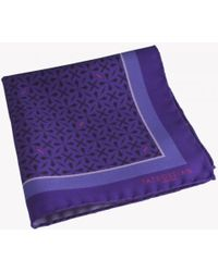 Tateossian - Armenian Patterned Silk Pocket Square In Purple - Lyst