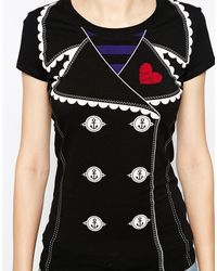 Love Moschino Jacket Print T-shirt with Short Sleeves - Lyst
