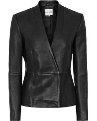 Reiss Amanda Tailored Leather Jacket - Lyst