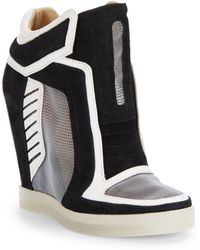 L.a.m.b. Freeda Mesh Wedge Sneakers - Lyst