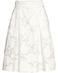 H&M Embroidered Skirt - Lyst