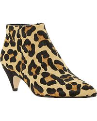 Dune Ophelia Pointed-Toe Animal-Print Ankle Boots - For Women animal - Lyst