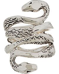Aurelie Bidermann Silver Plated Mamba Ring - Lyst