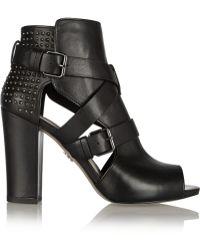 Pour La Victoire Estel Studded Leather Ankle Boots - Lyst
