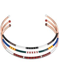 Tory Burch - Multi-Color Skinny Collar Necklace - Lyst