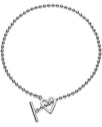 Gucci Heart-Motif Sterling Silver Necklace - For Women silver - Lyst