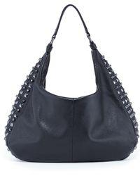 Romy Gold - Drew Leather Studded Hobo Bag - Lyst