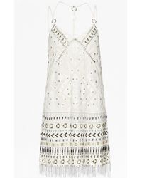 French Connection Cerro Beaded Dress white - Lyst