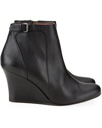 Lanvin Abu Wedge Ankle Boot - Lyst